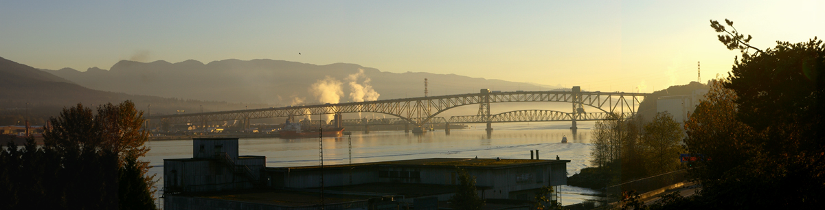 Iron Workers Memorial Bridge: Second Narrows, Vancouver, B.C. Photo A. Sorfleet, 2006.