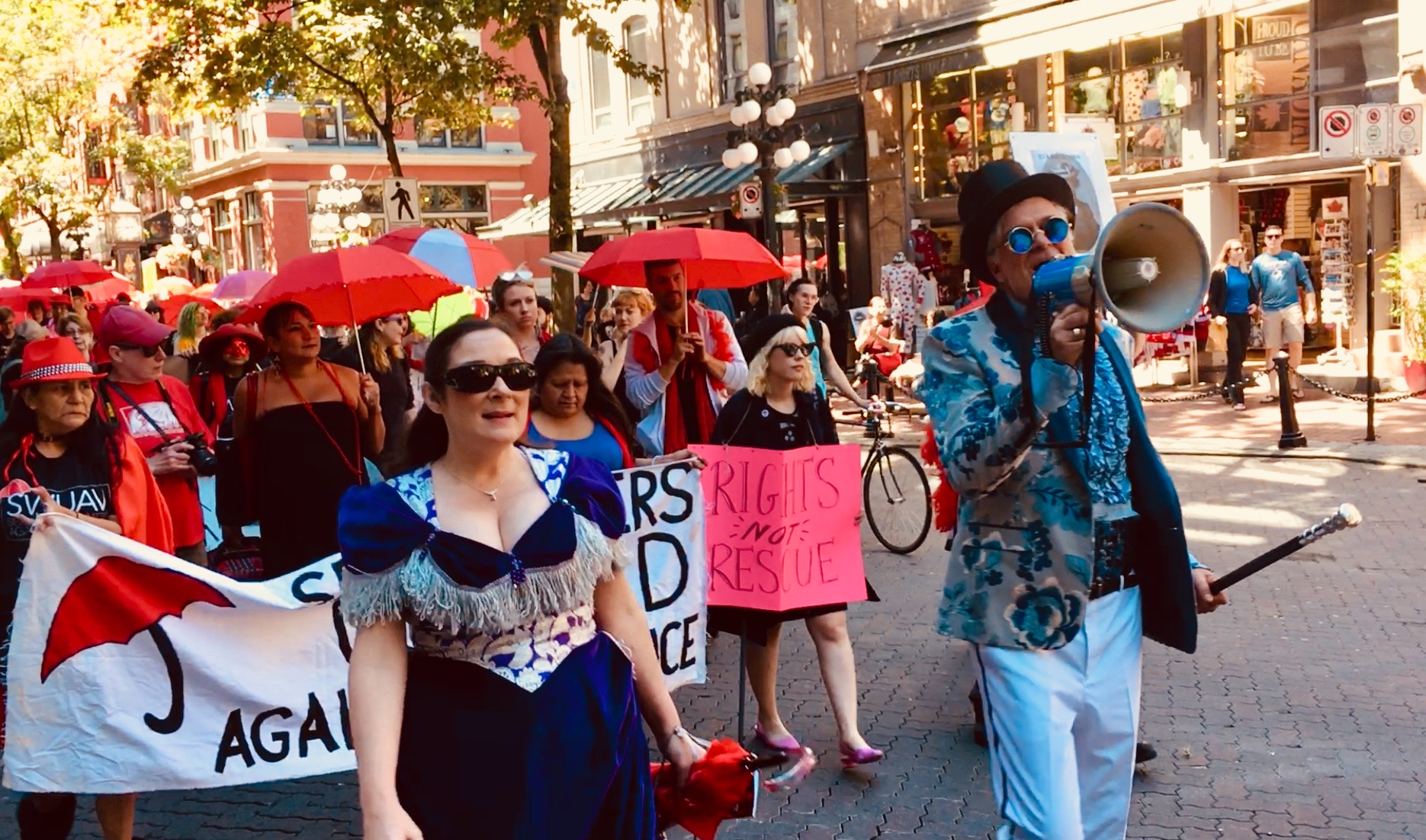 Red Umbrella March Celebrates 6th Year with Historic Steam-Era Tour, June 9, 2018, Vancouver.