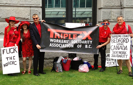 Triple-X First Directors at Red Umbrella March Rally at the Vancouver Art Gallery, Saturday, June 8, 2013.
